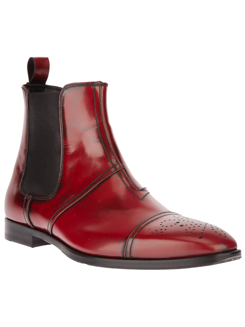 Lyst John Galliano Chelsea Boots In Red For Men