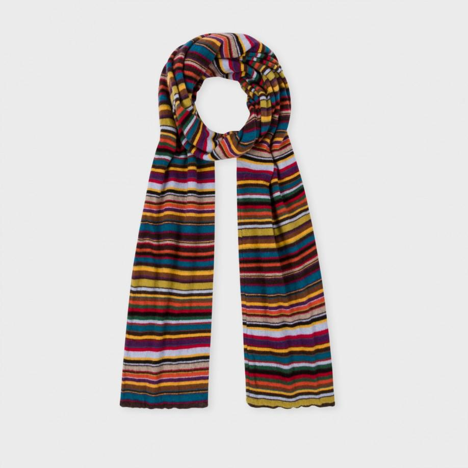 paul smith s signature stripe wool scarf for