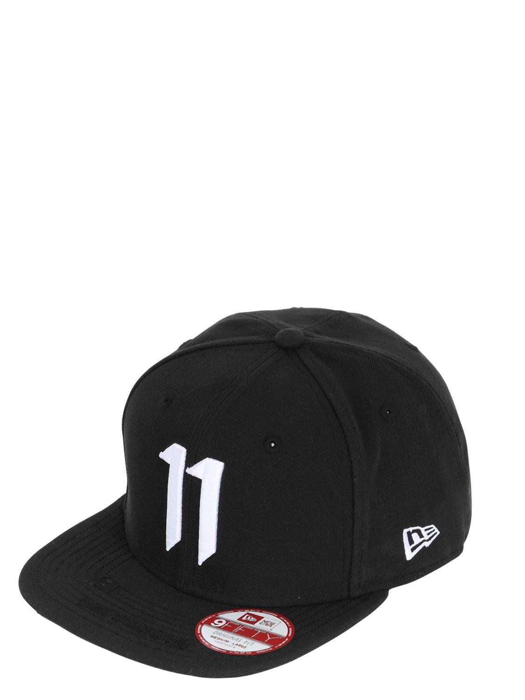Lyst - Boris Bidjan Saberi 11 Logo Embroidered Canvas Baseball Hat ... f52ec841e4b6