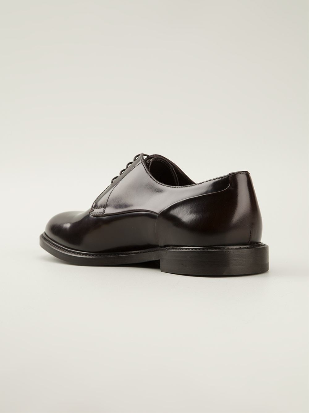 Lyst - Giorgio Armani Classic Derby Shoes in Brown for Men