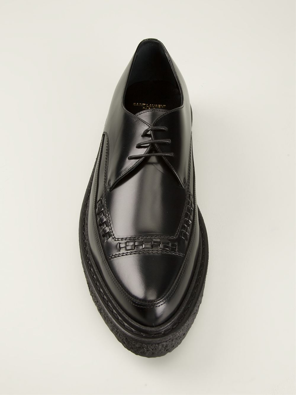 Lyst Saint Laurent Thick Sole Laceup Shoes In Black For Men
