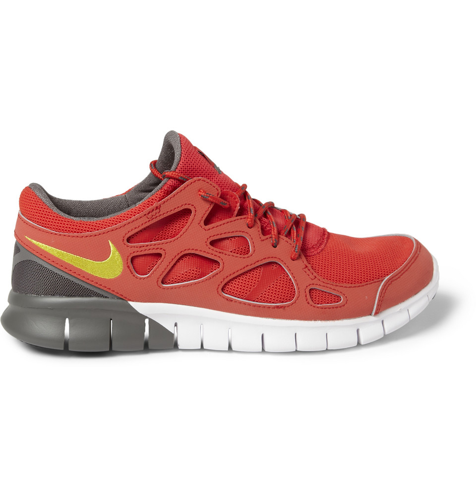 nike free run 2 mesh sneakers in red for men lyst. Black Bedroom Furniture Sets. Home Design Ideas