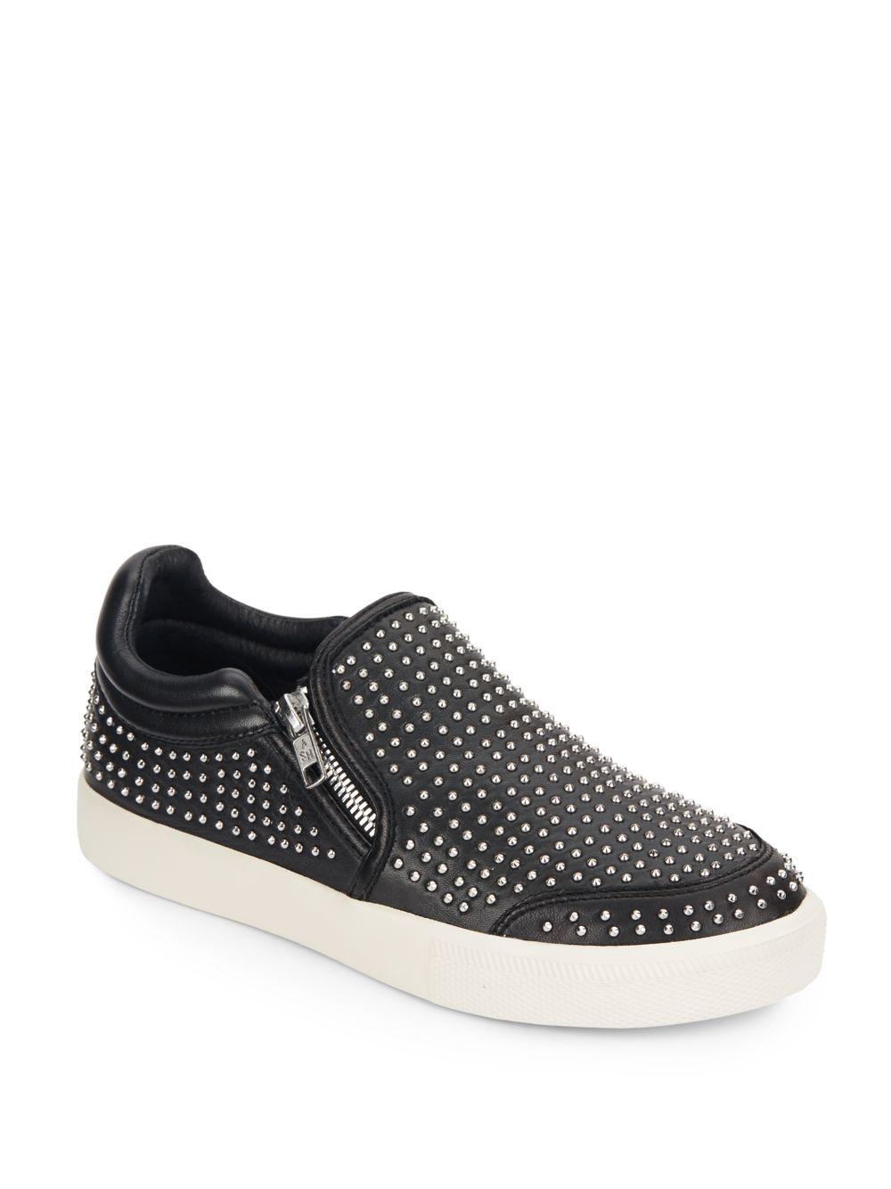 floral embroidered slip-on sneakers - Black Ash qiyALkw