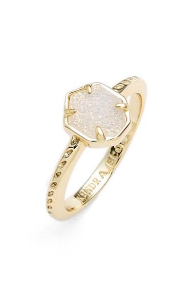 Lyst Kendra Scott Calvin Drusy Ring In Metallic
