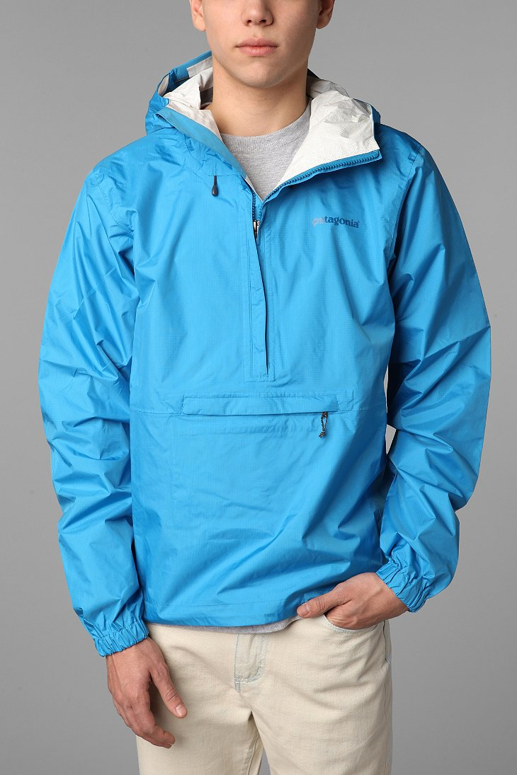 Patagonia Torrent Shell Pullover Jacket in Blue for Men | Lyst