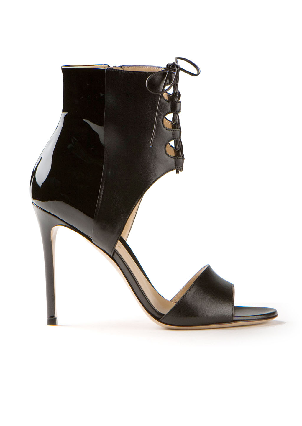 Gianvito Rossi Laceup Sandals In Black Lyst