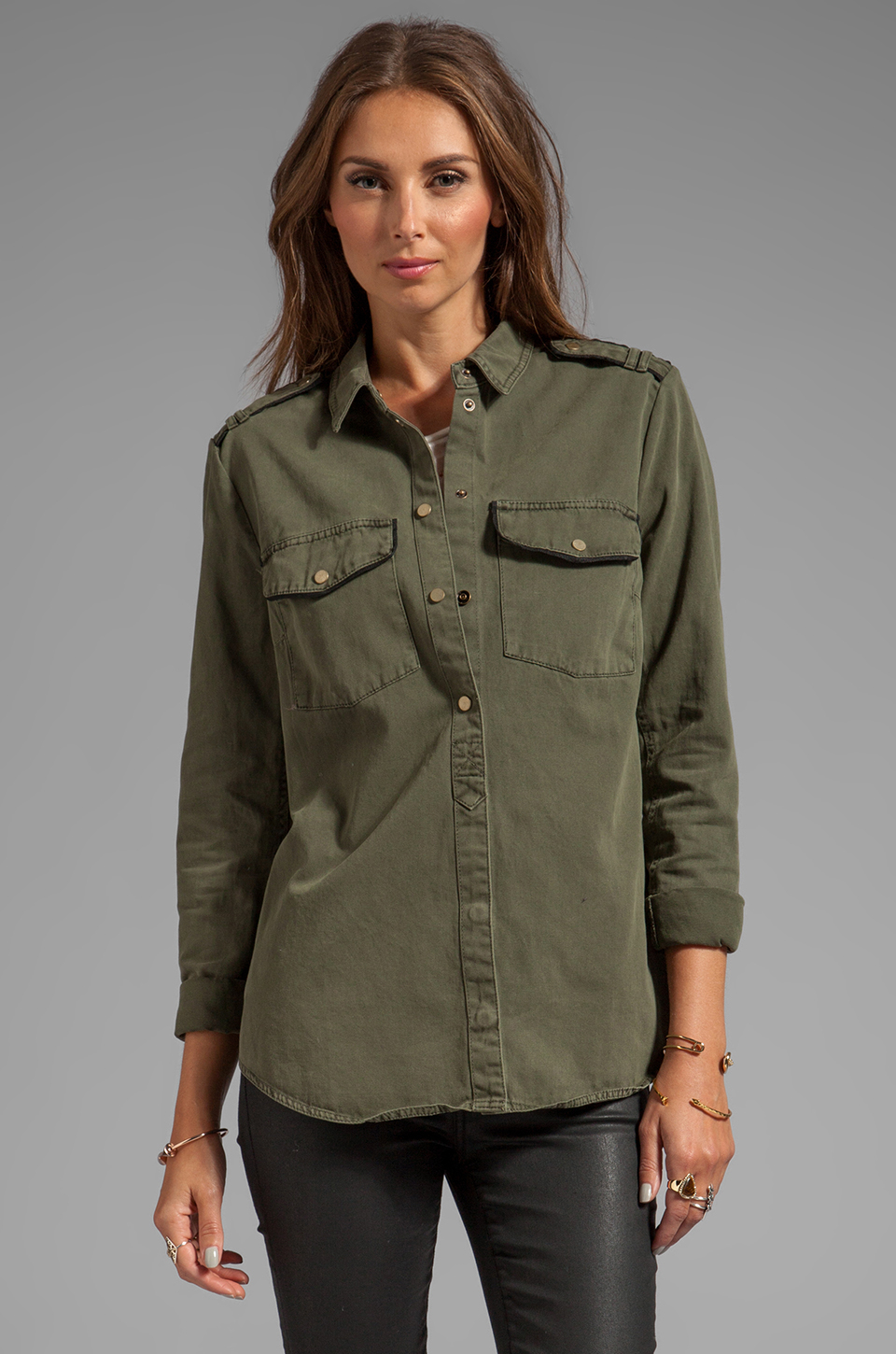 Sanctuary Army Shirt Jacket in Green - Lyst