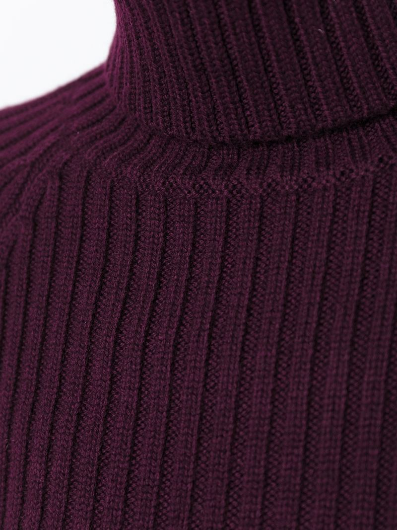 Joseph Ribbed Turtleneck Sweater in Pink | Lyst
