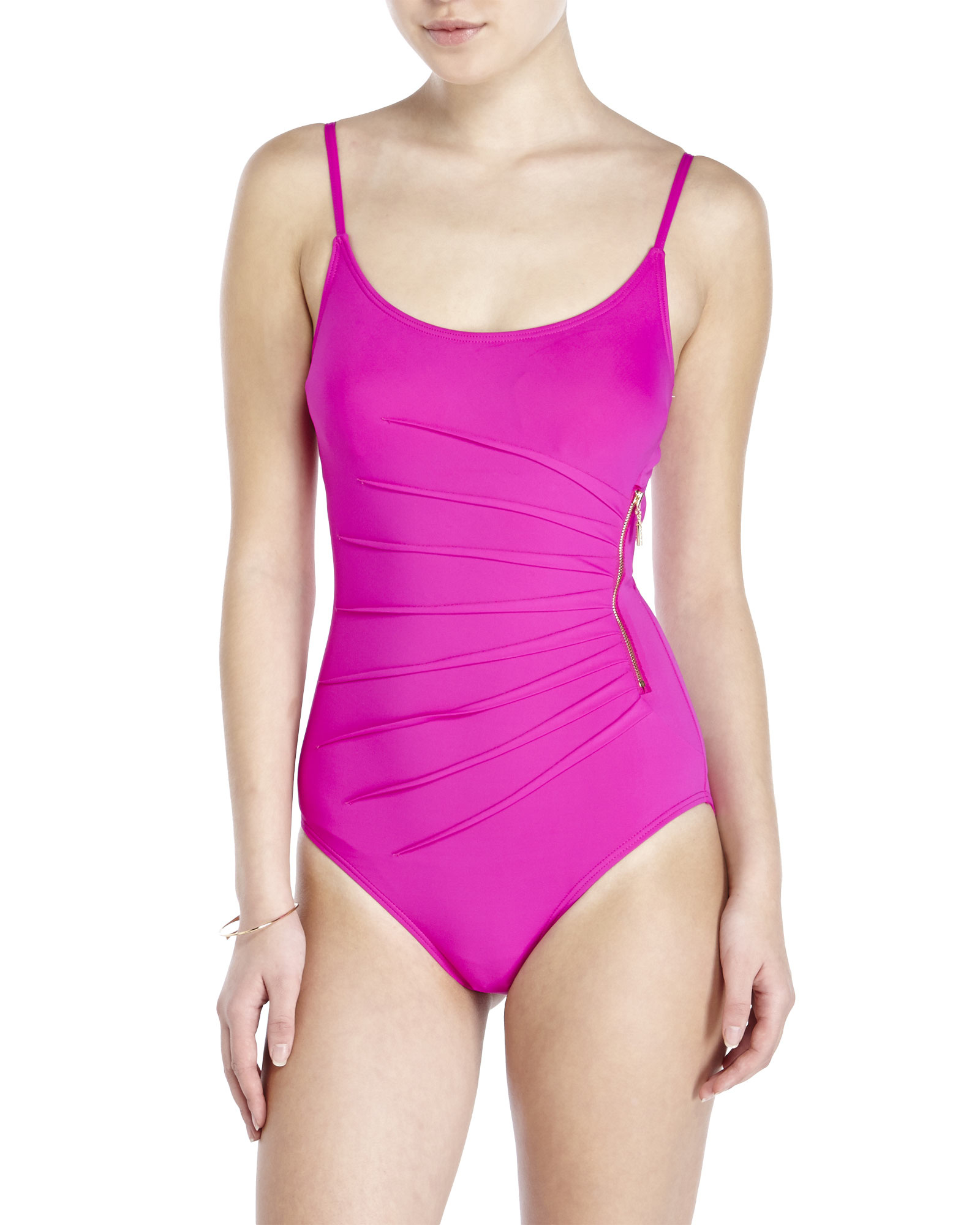 d0c6272ad9 Ivanka Trump Shirred One-Piece Swimsuit in Purple - Lyst