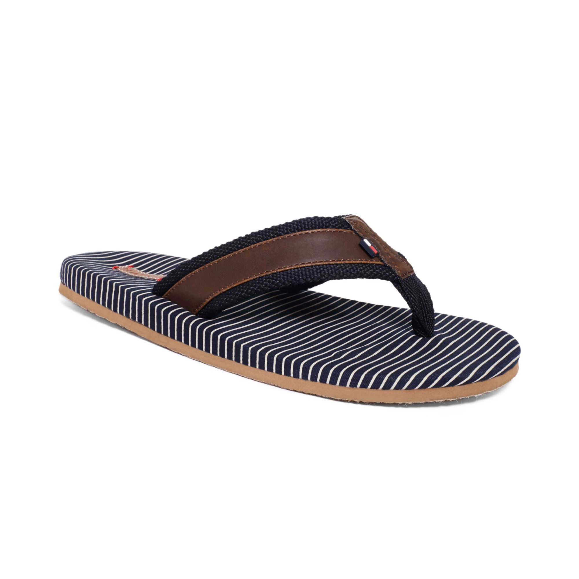 lyst tommy hilfiger marley flip flops in blue for men. Black Bedroom Furniture Sets. Home Design Ideas