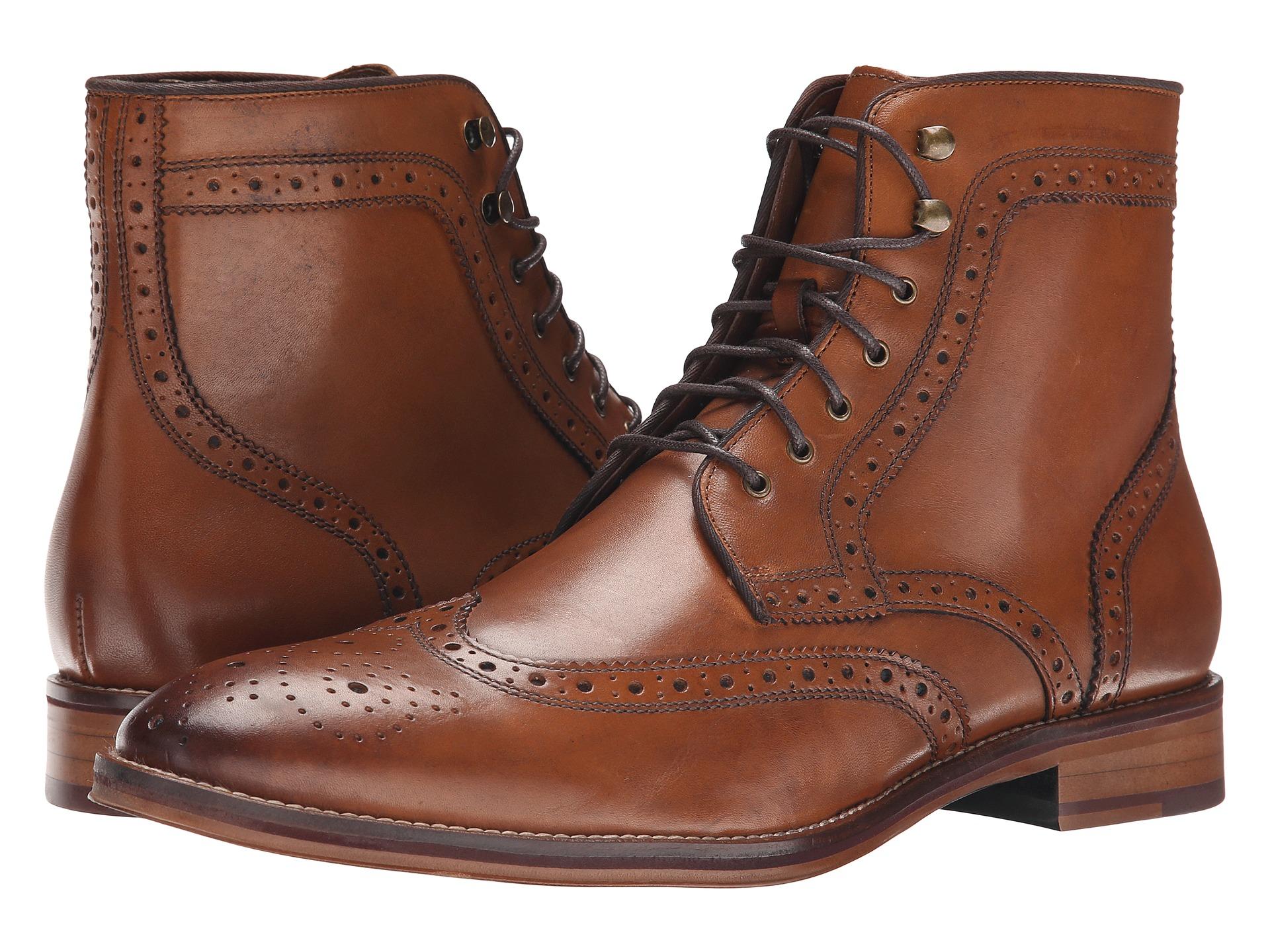Johnston Amp Murphy Conard Wingtip Boot In Brown For Men Lyst