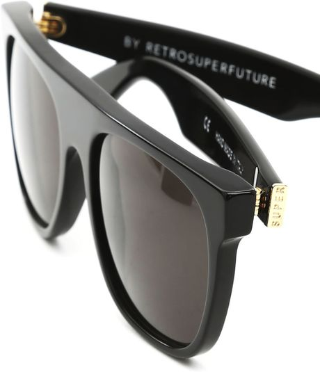 Super Flat Top Sunglasses Black Briar Black Flat Top Black Sunglasses