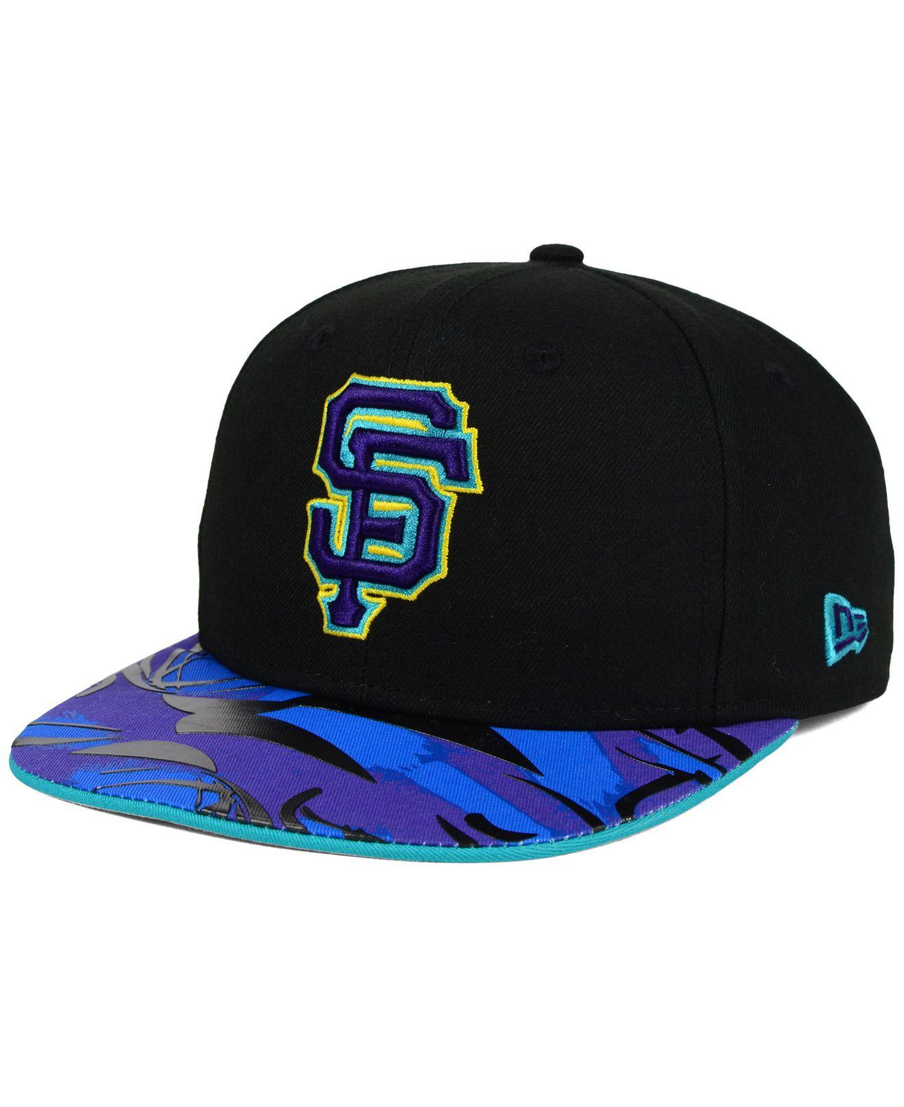 cheap for discount a6bc8 ef208 Lyst - KTZ San Francisco Giants Aqua Hook Vize 9fifty Snapback Cap ...