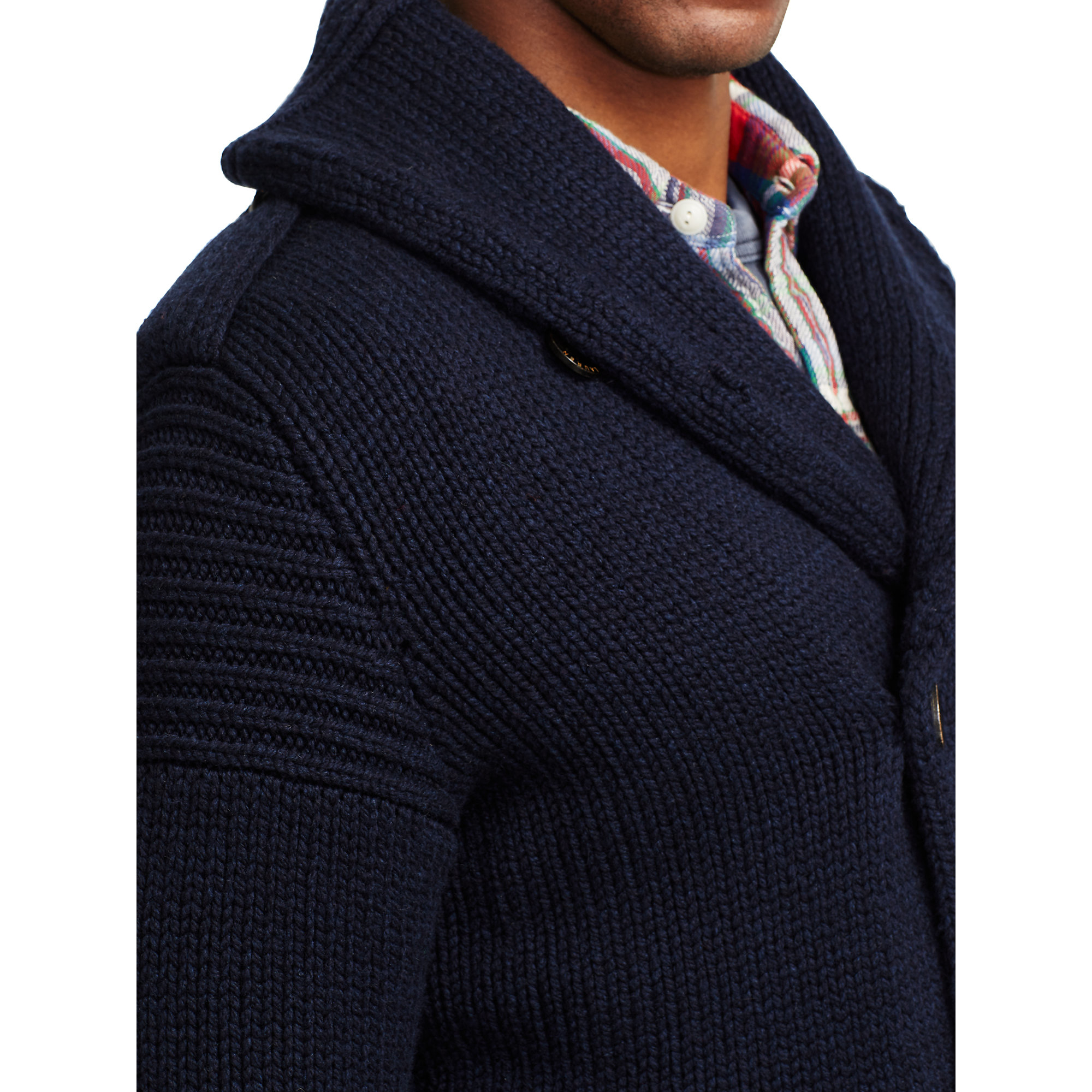 Polo ralph lauren Merino Wool Shawl Cardigan in Blue for Men | Lyst