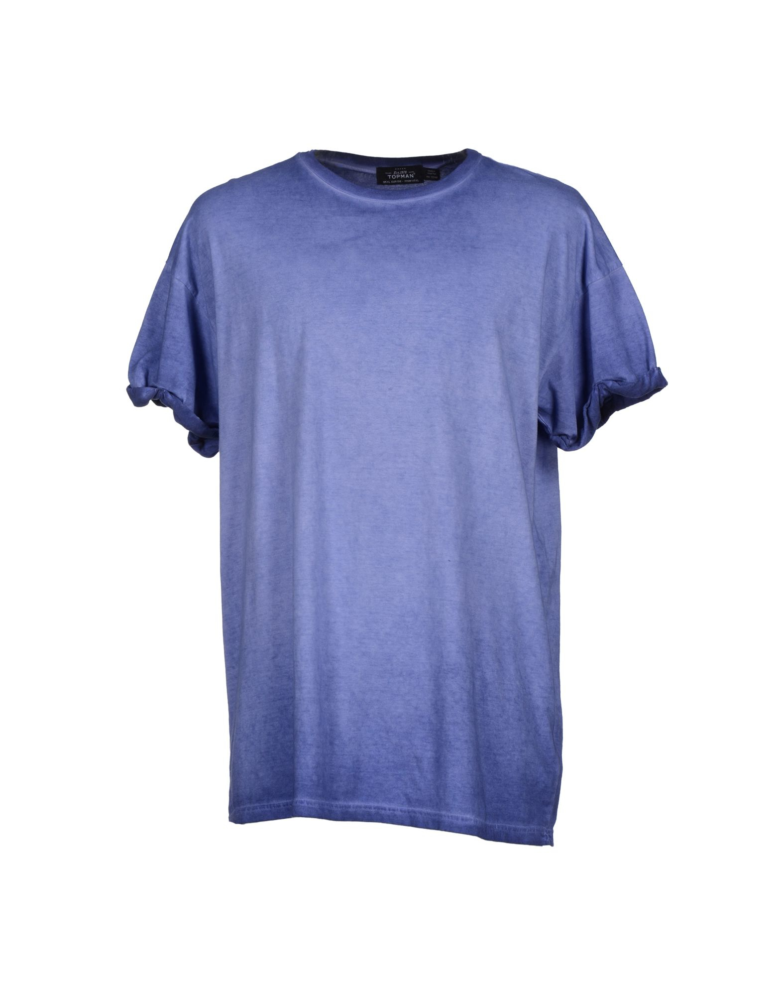 Topman t shirt in blue for men pastel blue lyst for Pastel colored men s t shirts