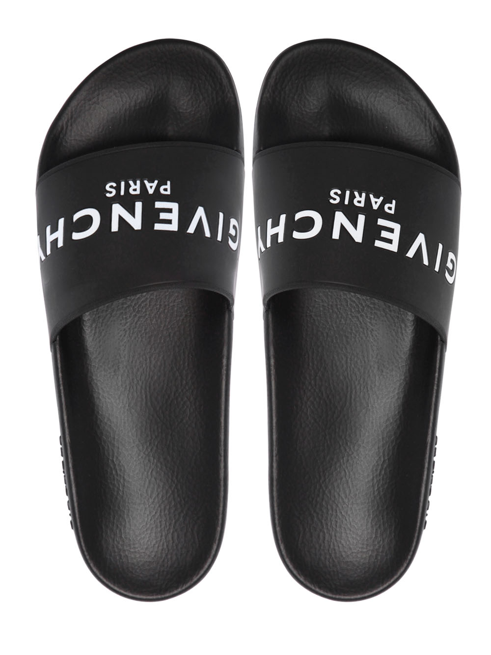 Givenchy Logo Rubber Slide Sandals In Black For Men Lyst
