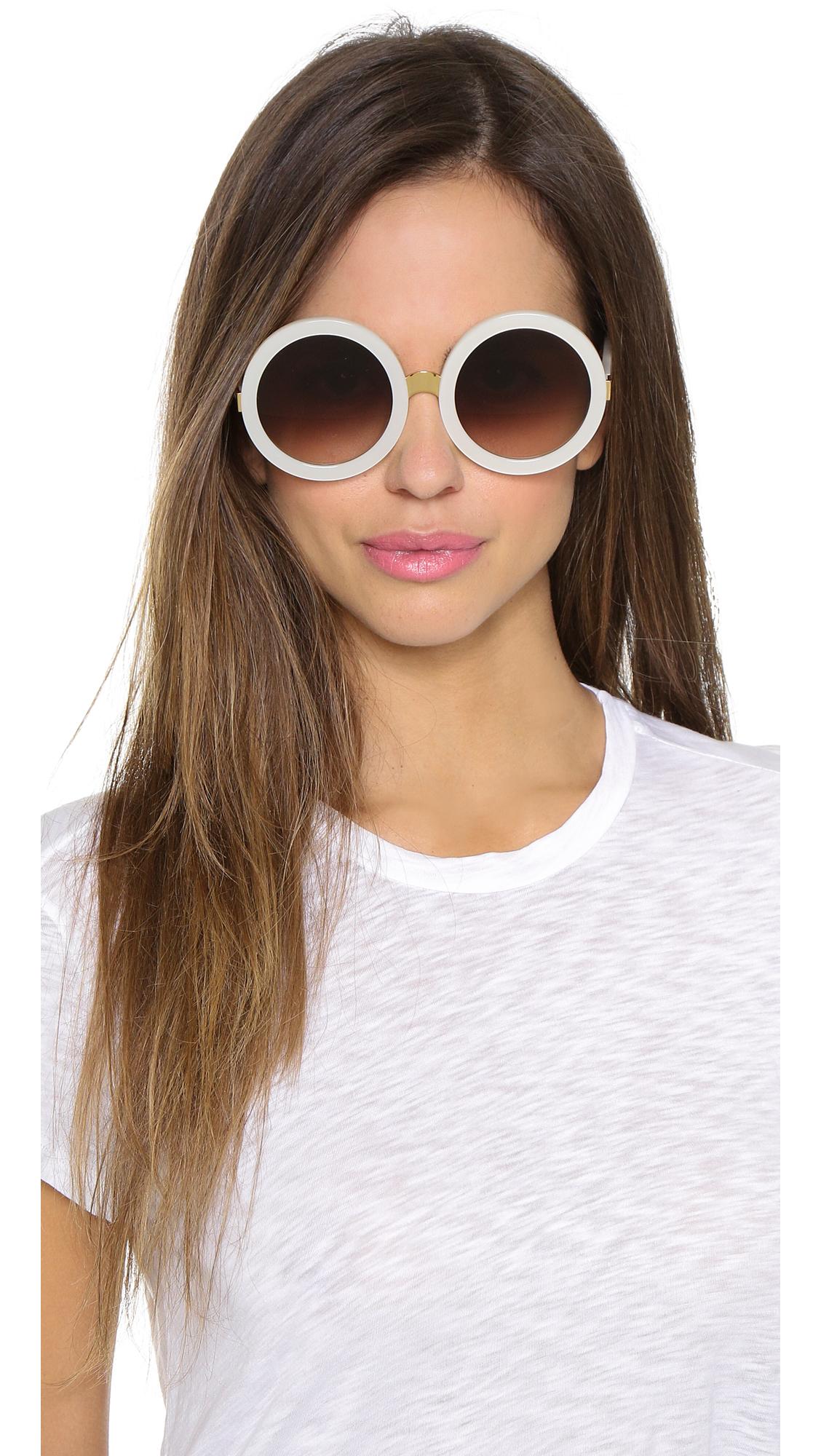 f42f5f9dc9 Wildfox Malibu Sunglasses - Amber Tortoise brown Sun in White - Lyst
