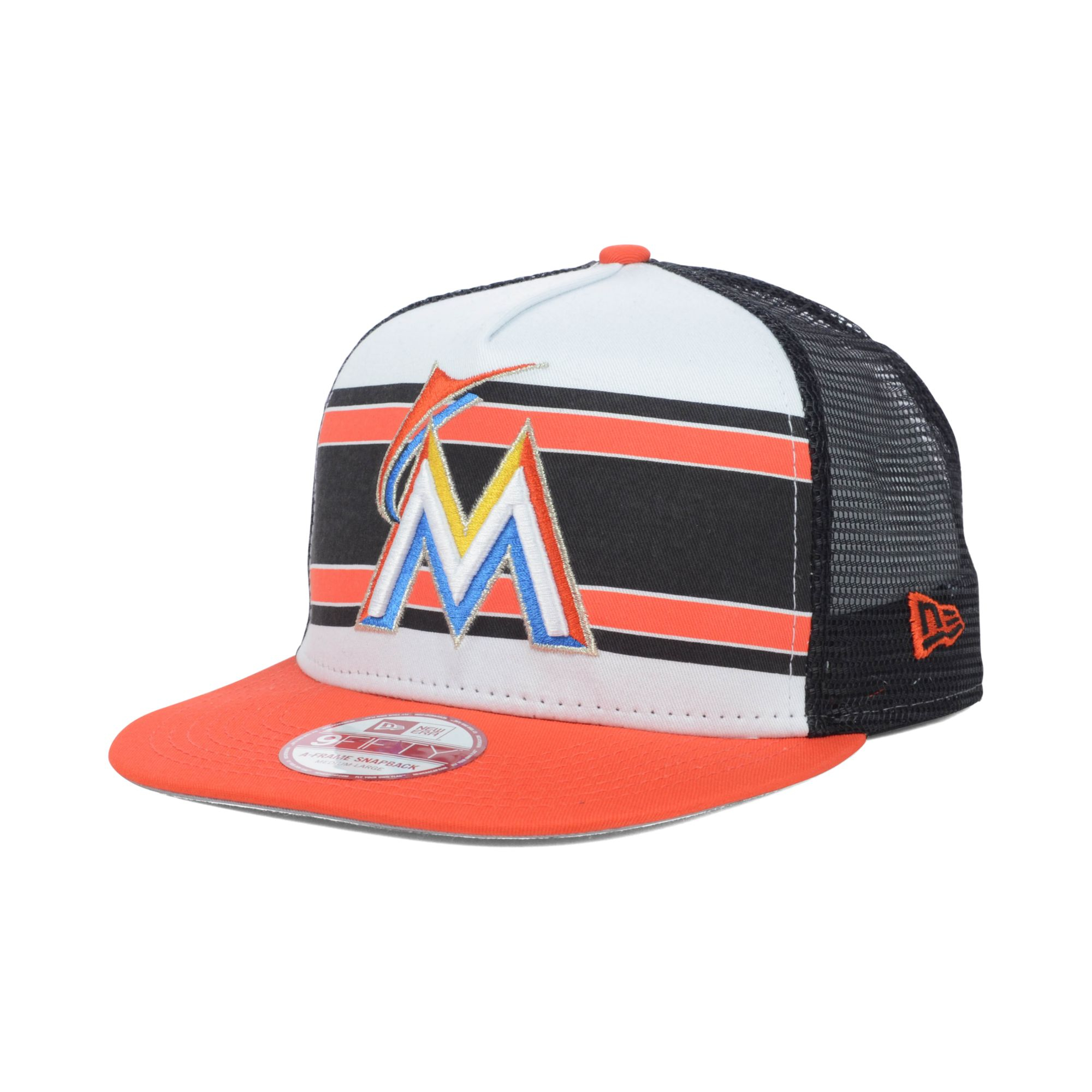 designer fashion 94e87 924f2 ... france lyst ktz miami marlins mlb band slap 9fifty snapback cap for men  faba1 1de6d