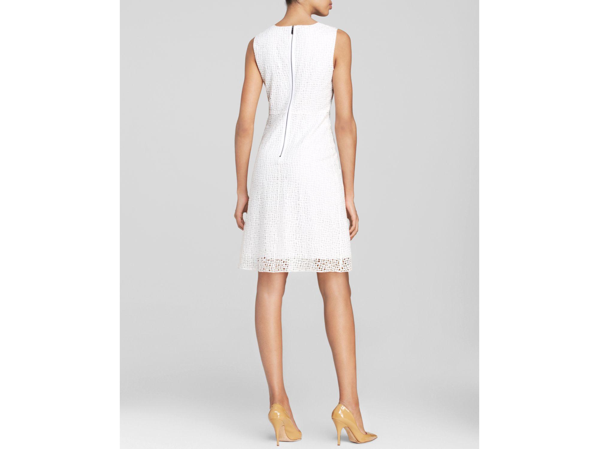 49d08aa1 Elie Tahari Dress - Ophelia Sleeveless Lace in White - Lyst