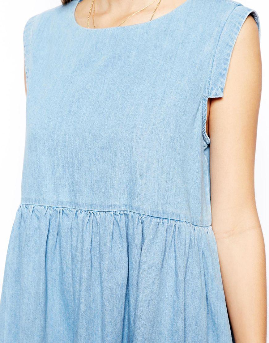 Light Blue Smocked Dress