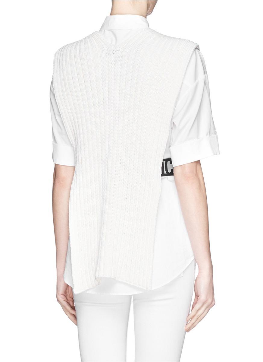 Mcq Elastic Waist Split Side Sweater Vest In White Lyst