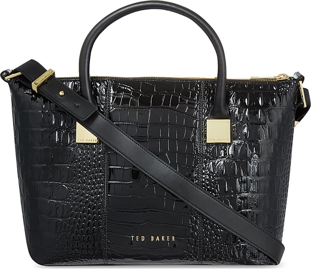 337be58870f Ted Baker Exotic Tote Bag in Black - Lyst