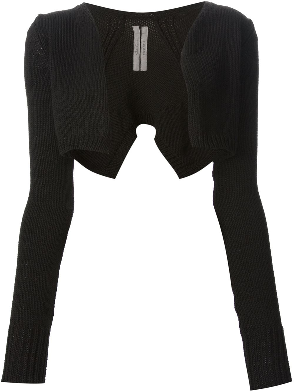 Lyst - Rick Owens Short Butterfly Cardigan in Black b0217f50d