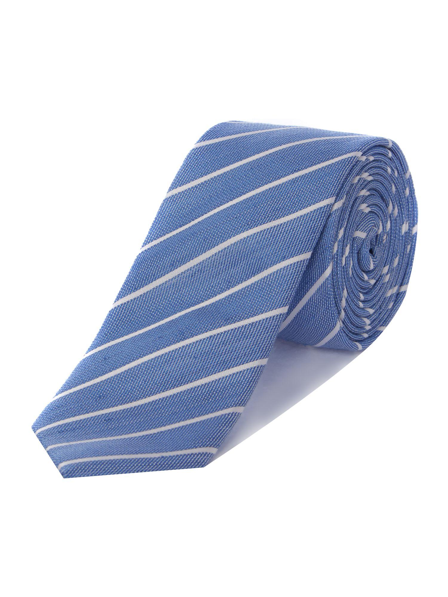 57e3554cdcf4d8 Ted Baker Tighta Striped Tie in Blue for Men - Lyst