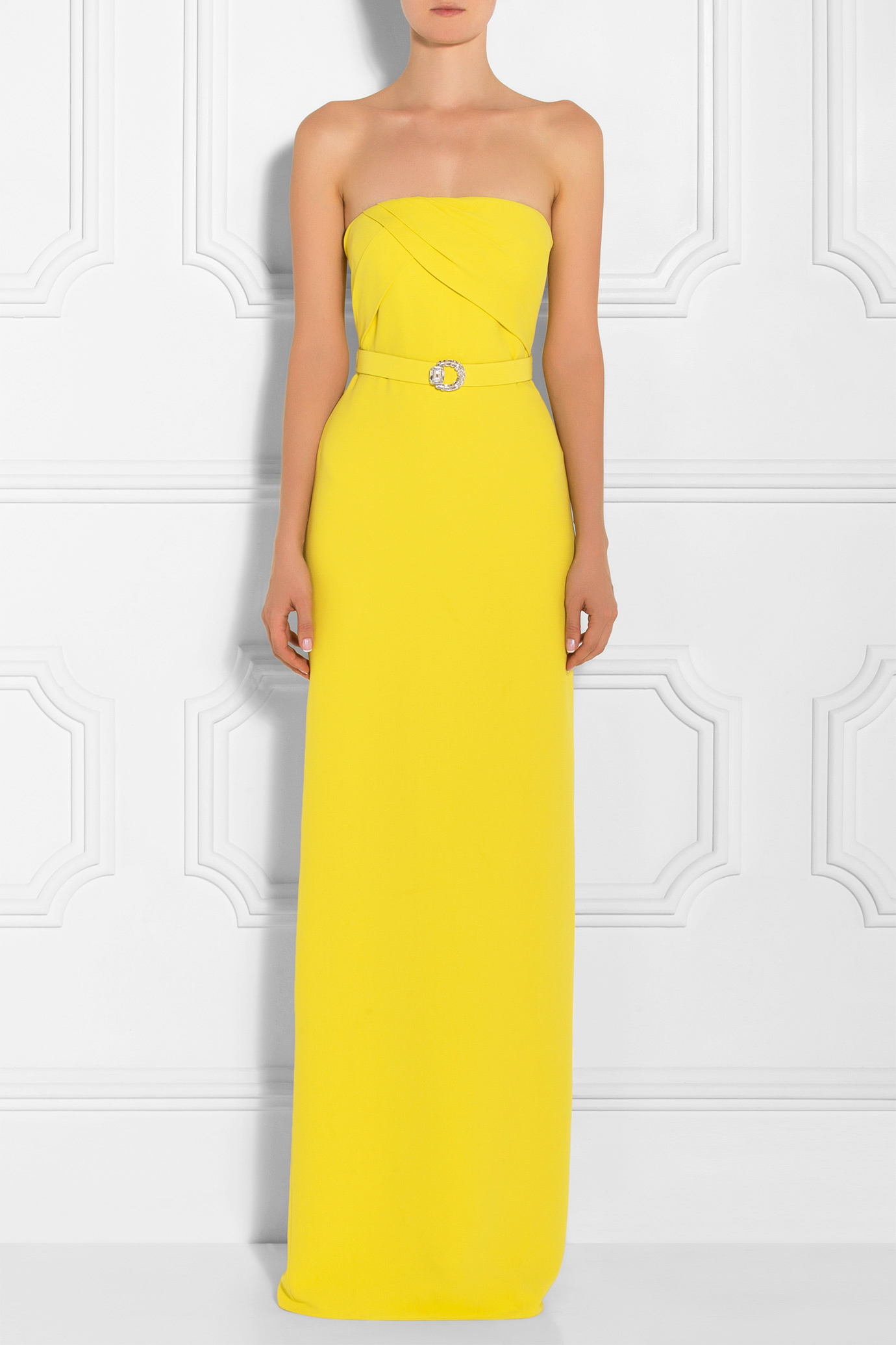 Gucci Strapless Gown in Yellow | Lyst