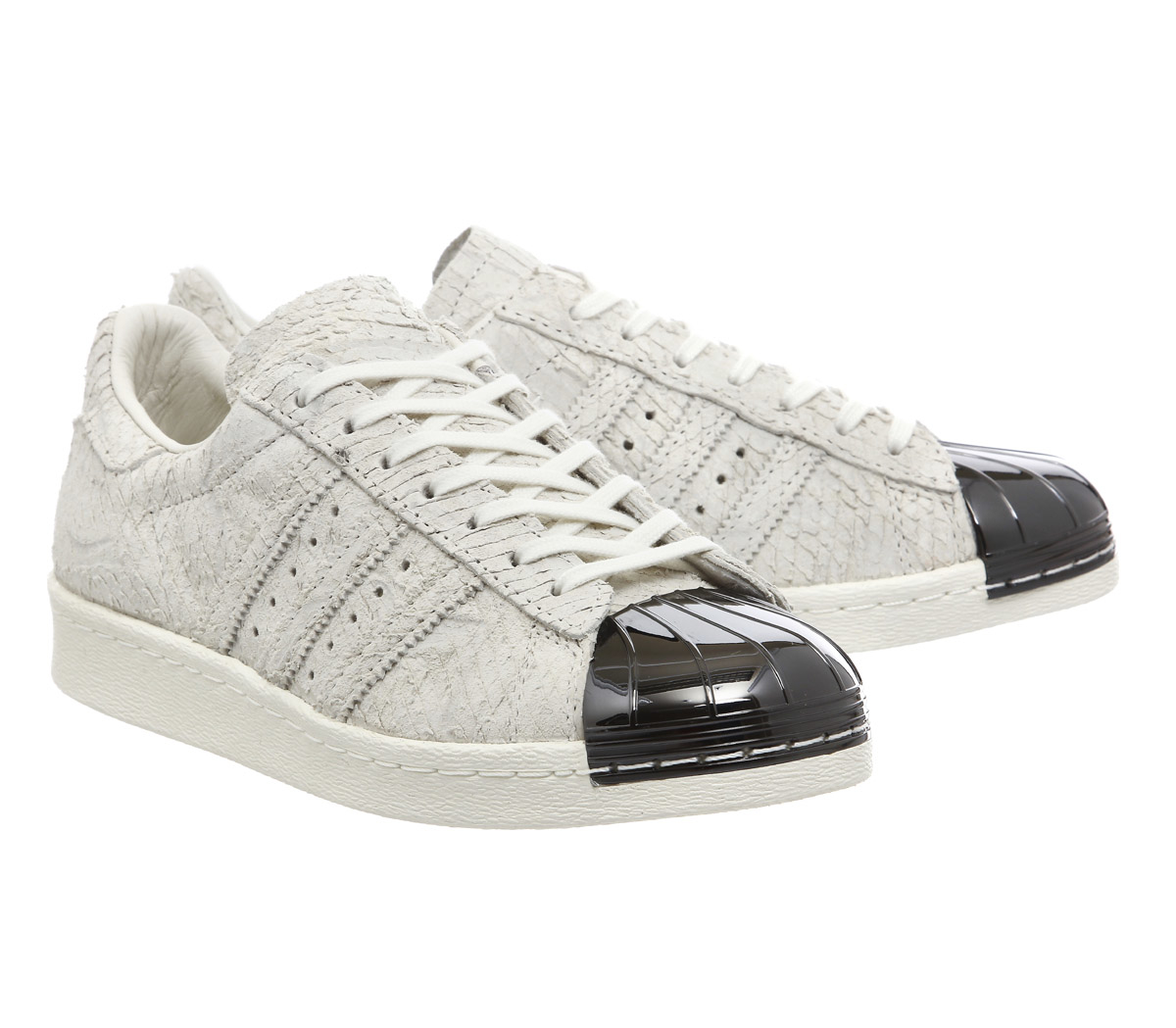 adidas superstar 80 39 s metal toe w in white lyst. Black Bedroom Furniture Sets. Home Design Ideas