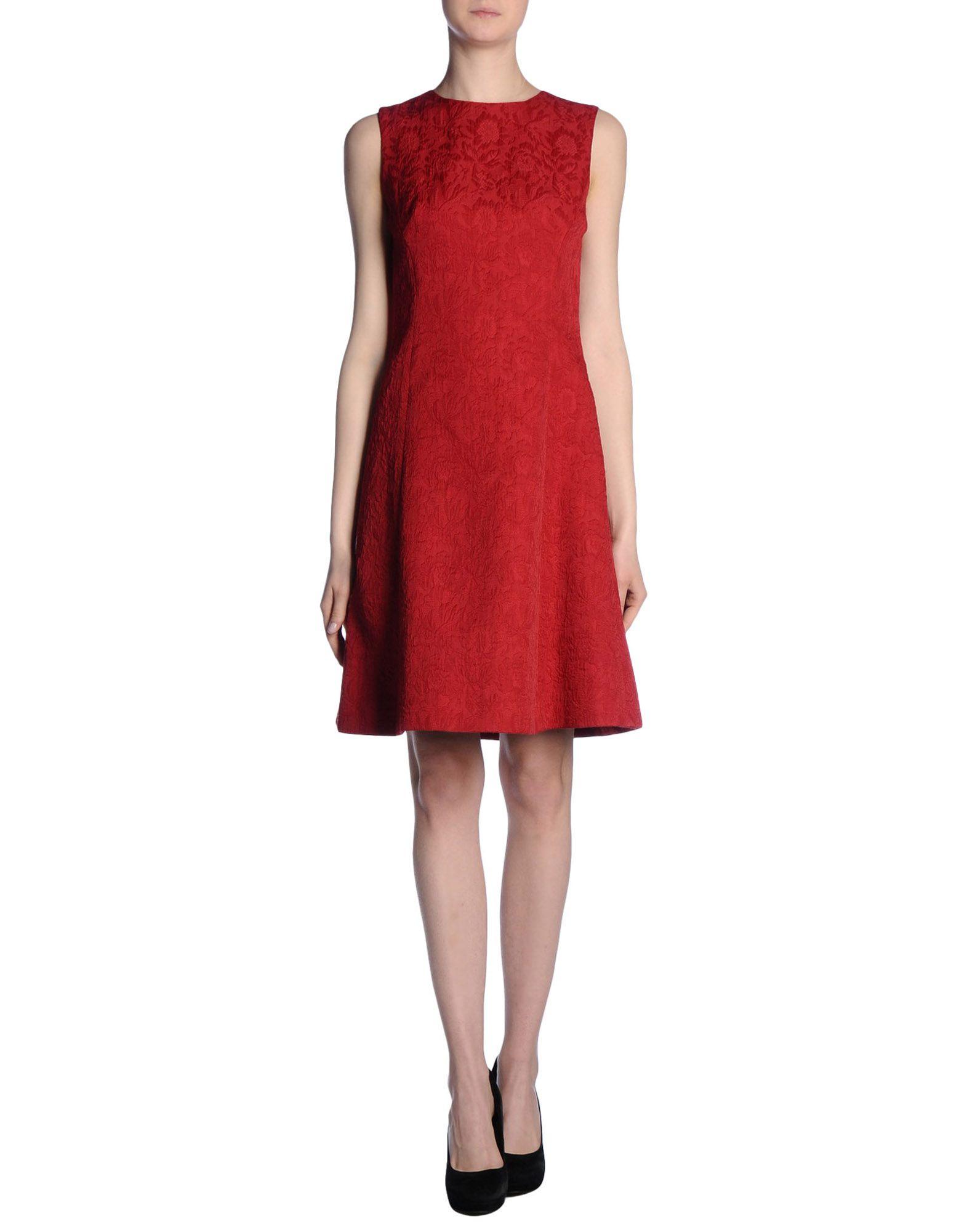 Dolce  amp  gabbana Short Dress in Red (Brick red)  b60d3e561