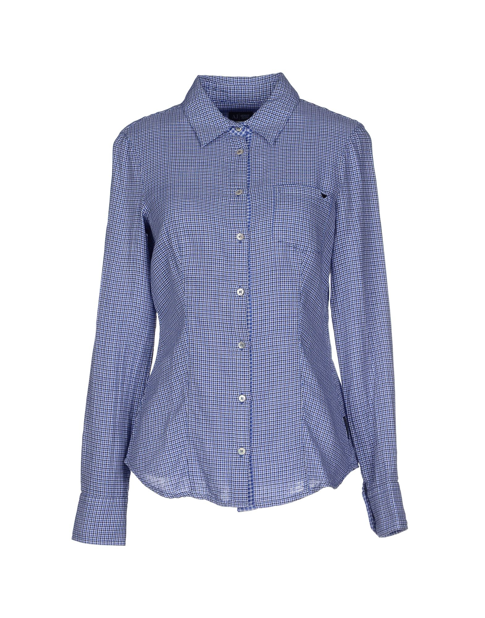 armani shirt in blue lyst