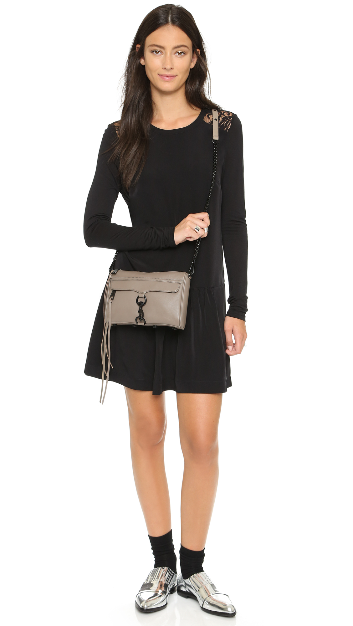 Rebecca Minkoff Mini Mac Leather Shoulder Bag In