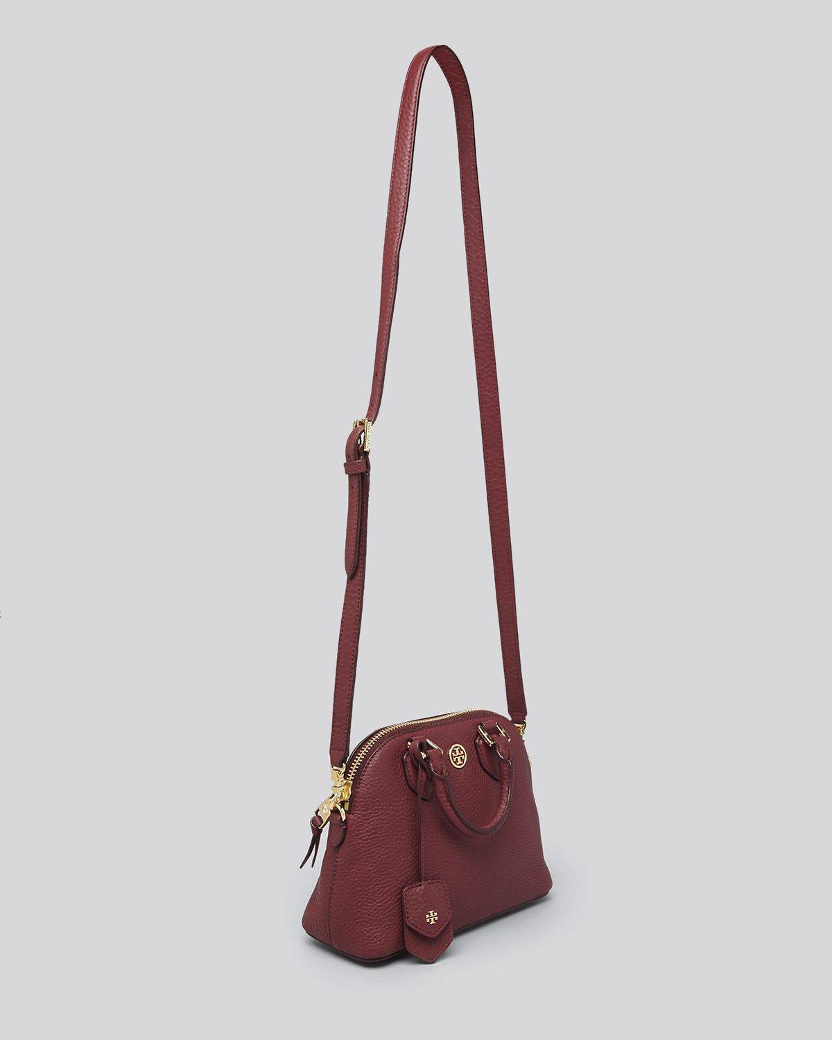 Lyst - Tory Burch Crossbody - Robinson Pebbled Mini Dome in Natural 3d75102789