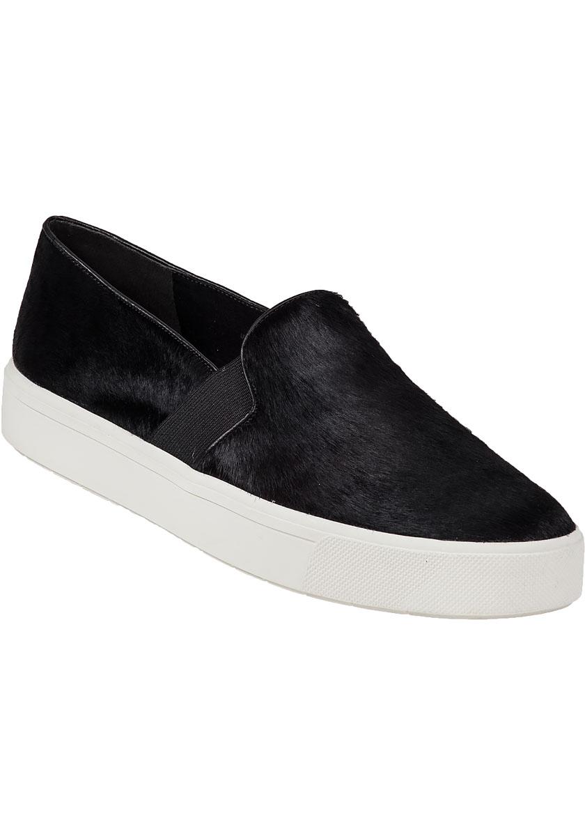 Vince berlin slip on sneaker black hair calf in black lyst