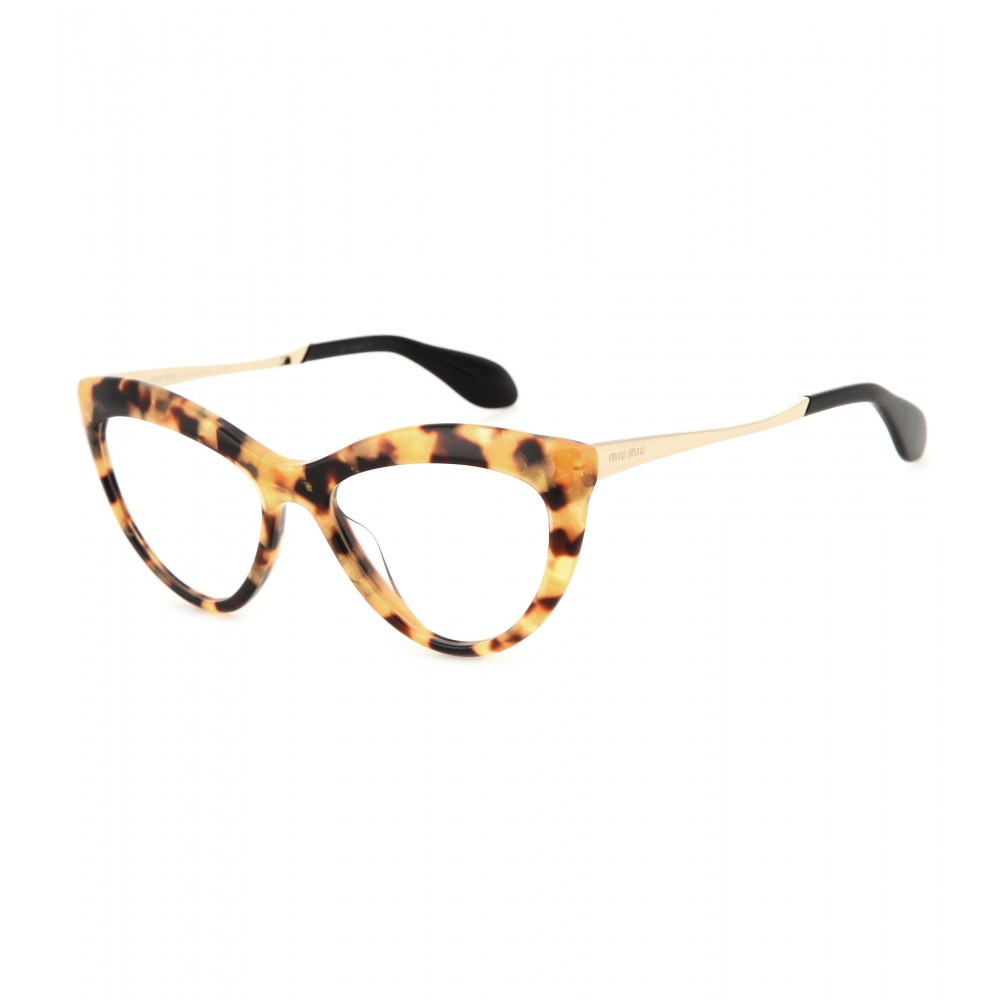 1e5c84838d Lyst Miu Cat Eye Optical Glasses In Yellow. Miu Cat Eye Enamelled Gold Tone  Optical Glasses 3. Miu Classy Cat Eye Enamelled ...