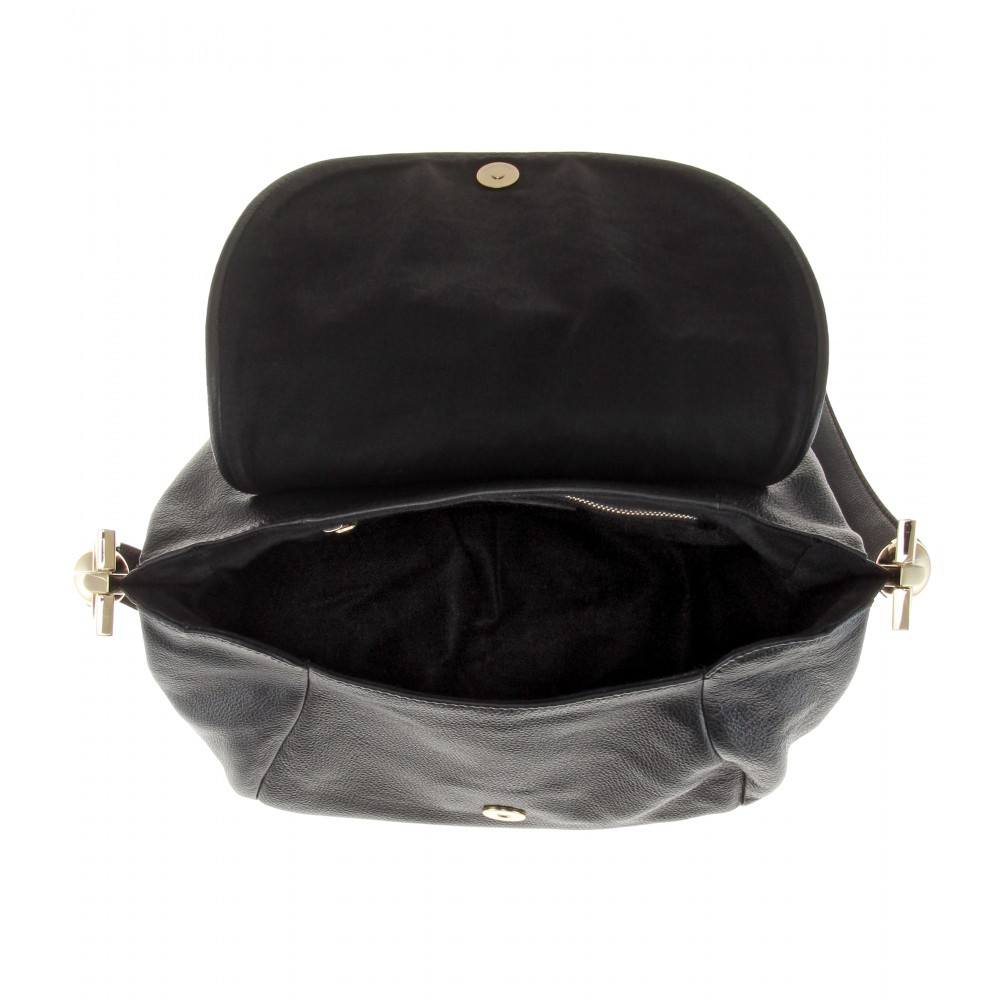 See by chlo�� Leather Shoulder Bag in Black (black height 24cm) | Lyst