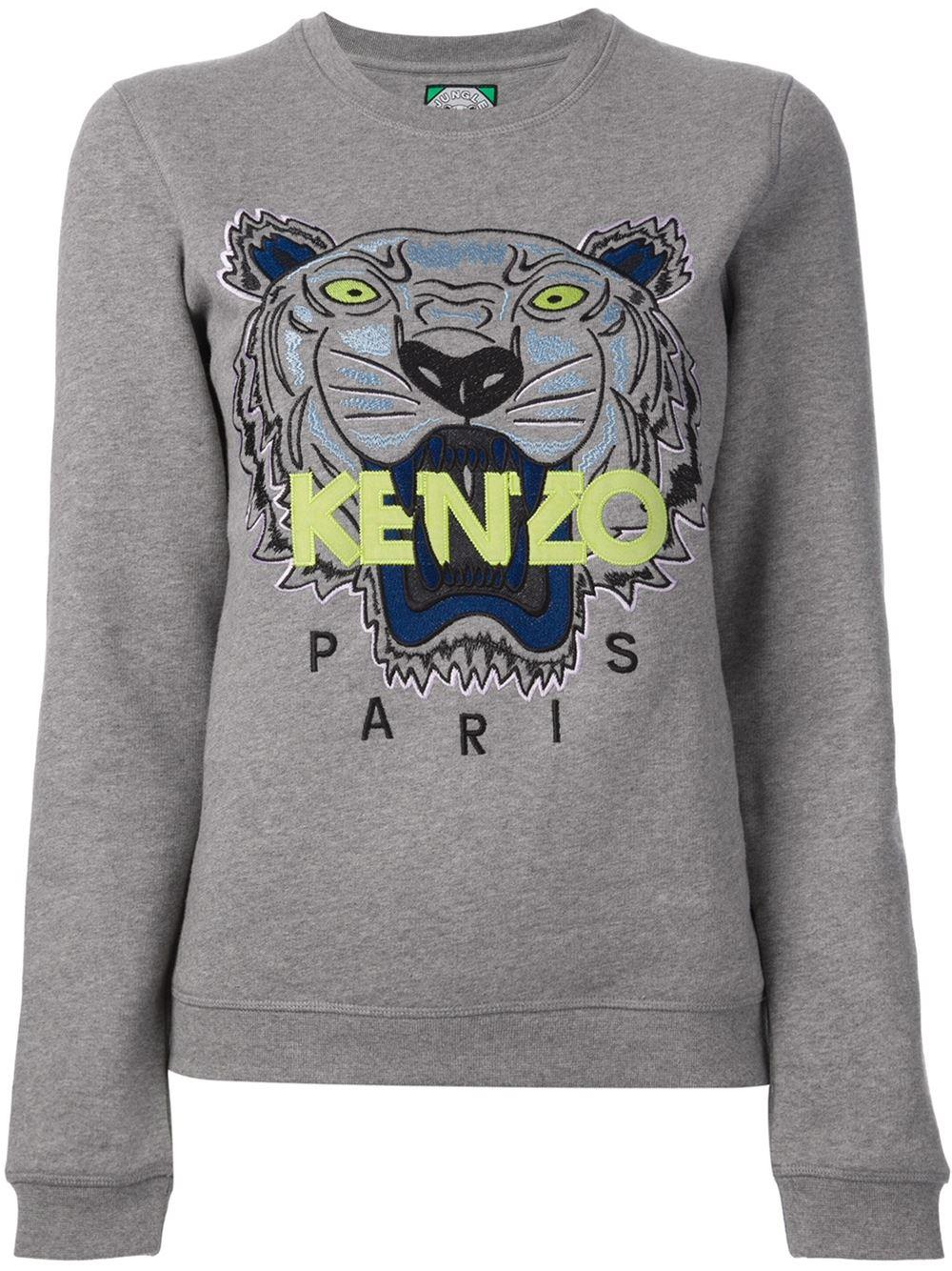 365658be048 Lyst - KENZO Jungle Logo Sweatshirt in Gray