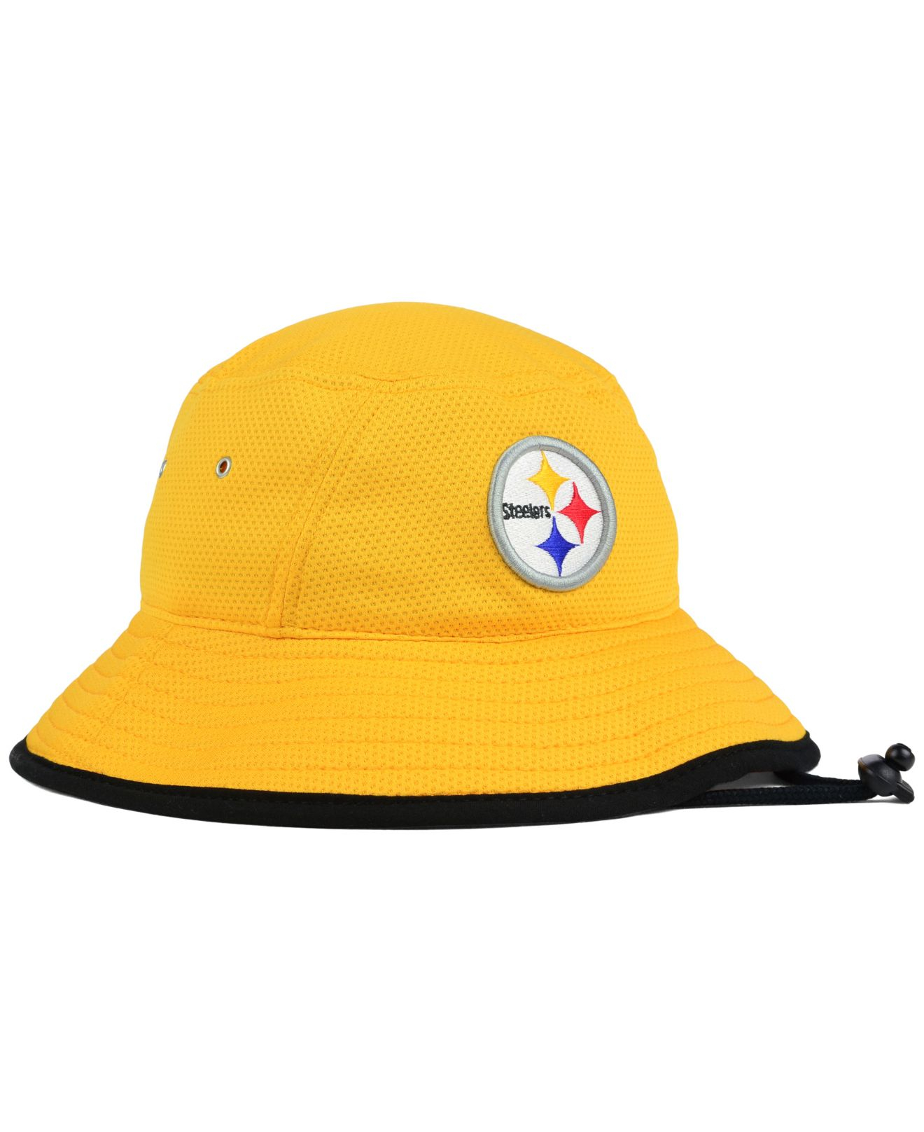 53b1d5292a5 Lyst - KTZ Pittsburgh Steelers Training Bucket Hat in Yellow for Men