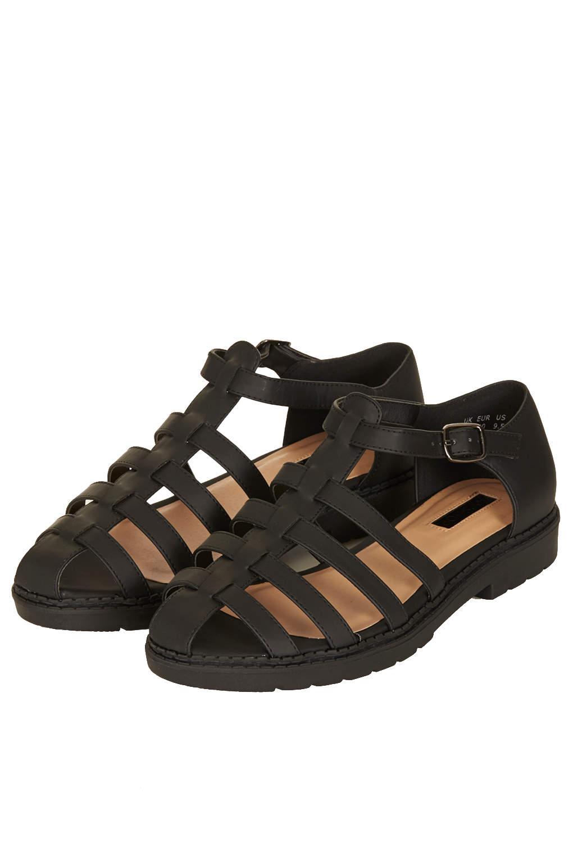 Topshop Florence Gladiator Sandals In Black Lyst