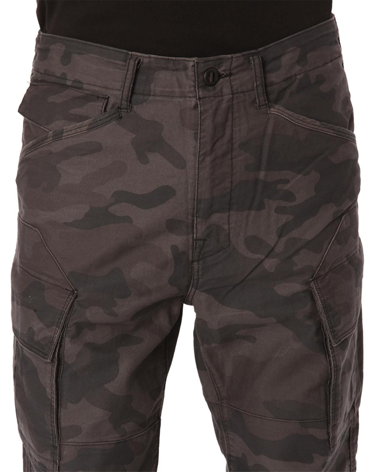 g star raw rovic tapered camo cargo trousers in green for. Black Bedroom Furniture Sets. Home Design Ideas