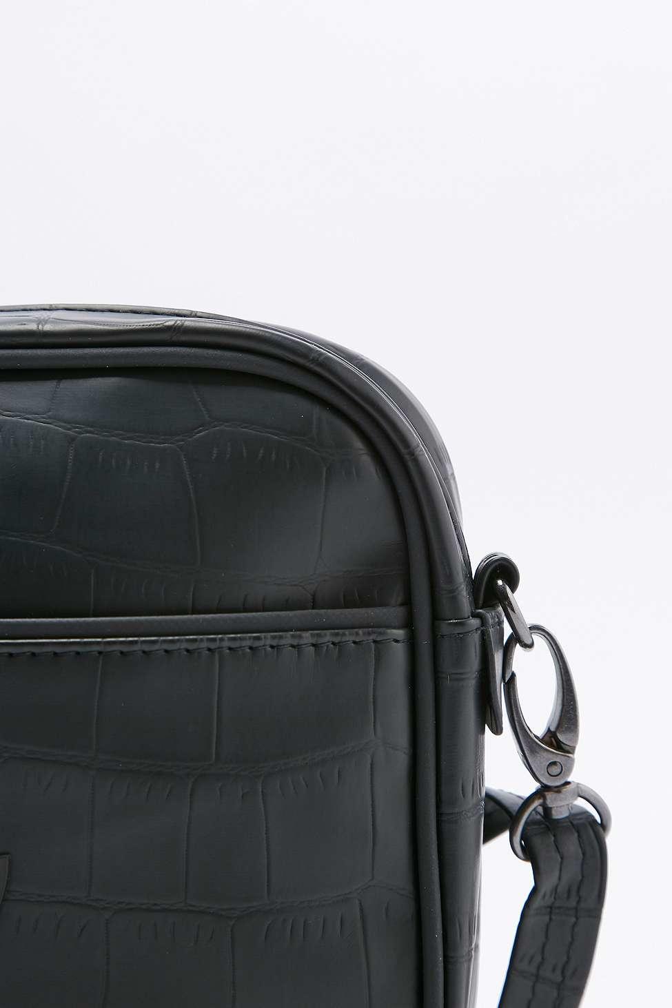 adidas Originals Airliner Black Crocodile Clutch in Black - Lyst 3aa4896ea04ed