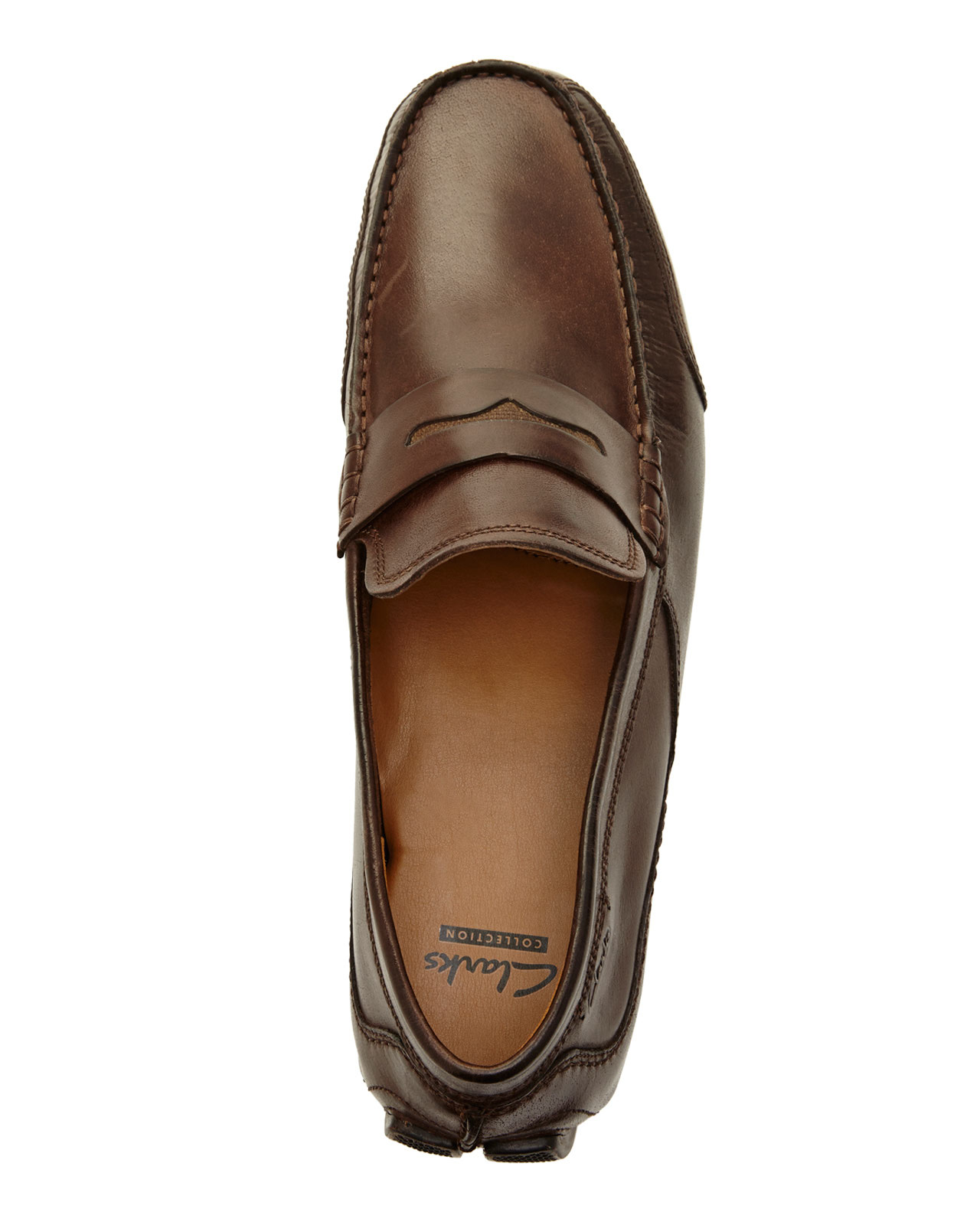 Clarks Brown Ashmont Way Penny Loafers In For Men Lyst