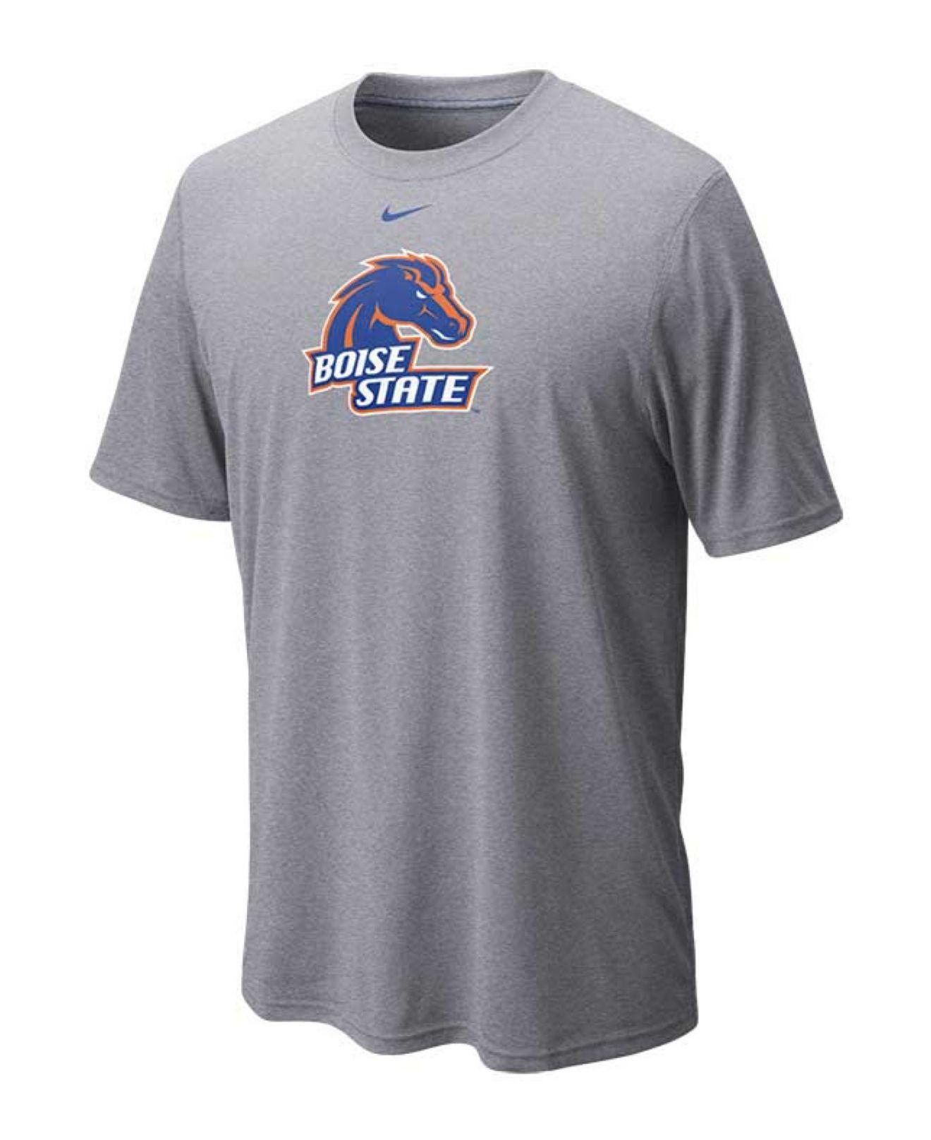 Nike men 39 s boise state broncos dri fit logo legend t shirt for Boise t shirt printing