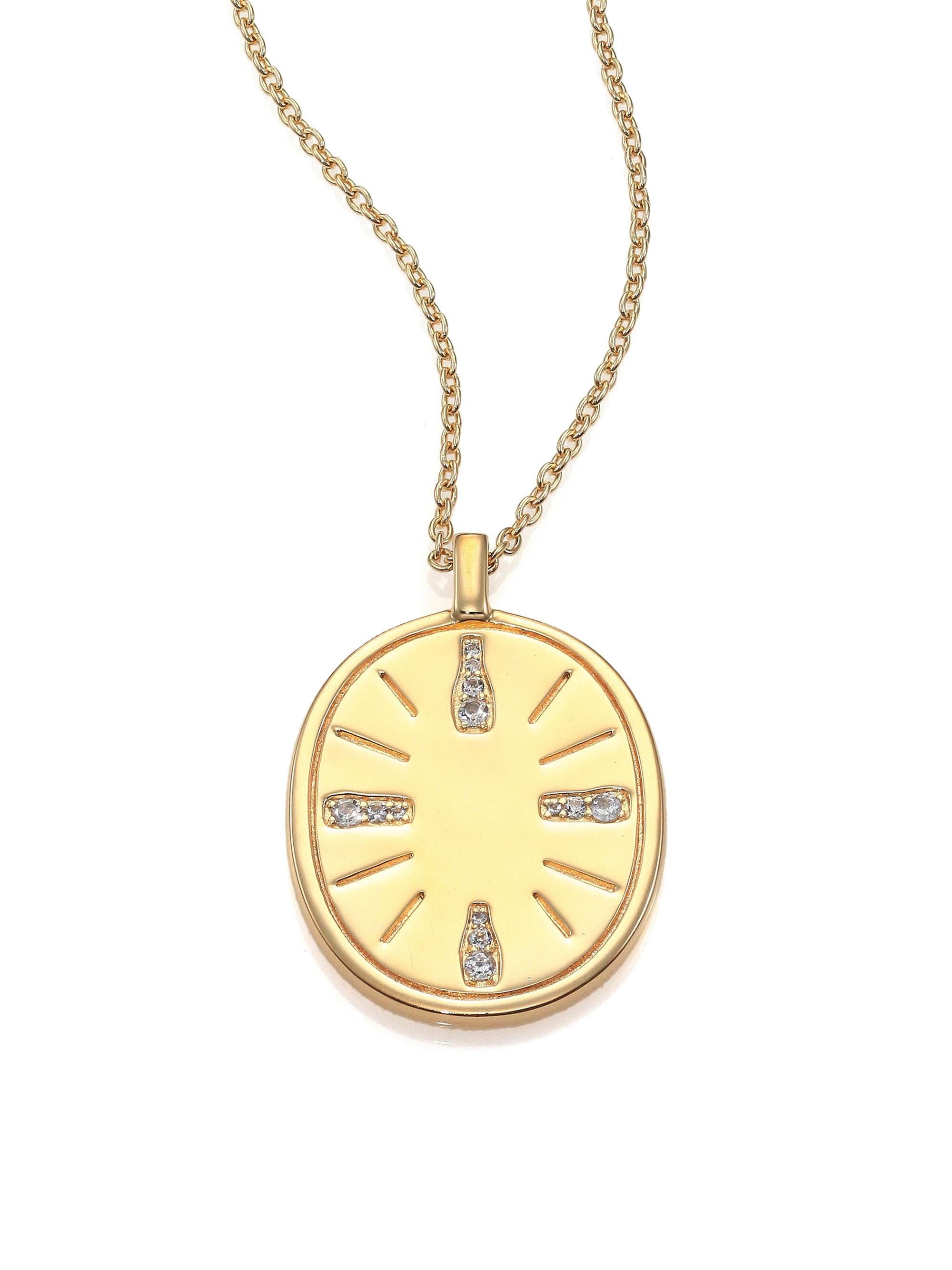 Vivian Necklace in Metallic Gold Elizabeth & James 0WS6or