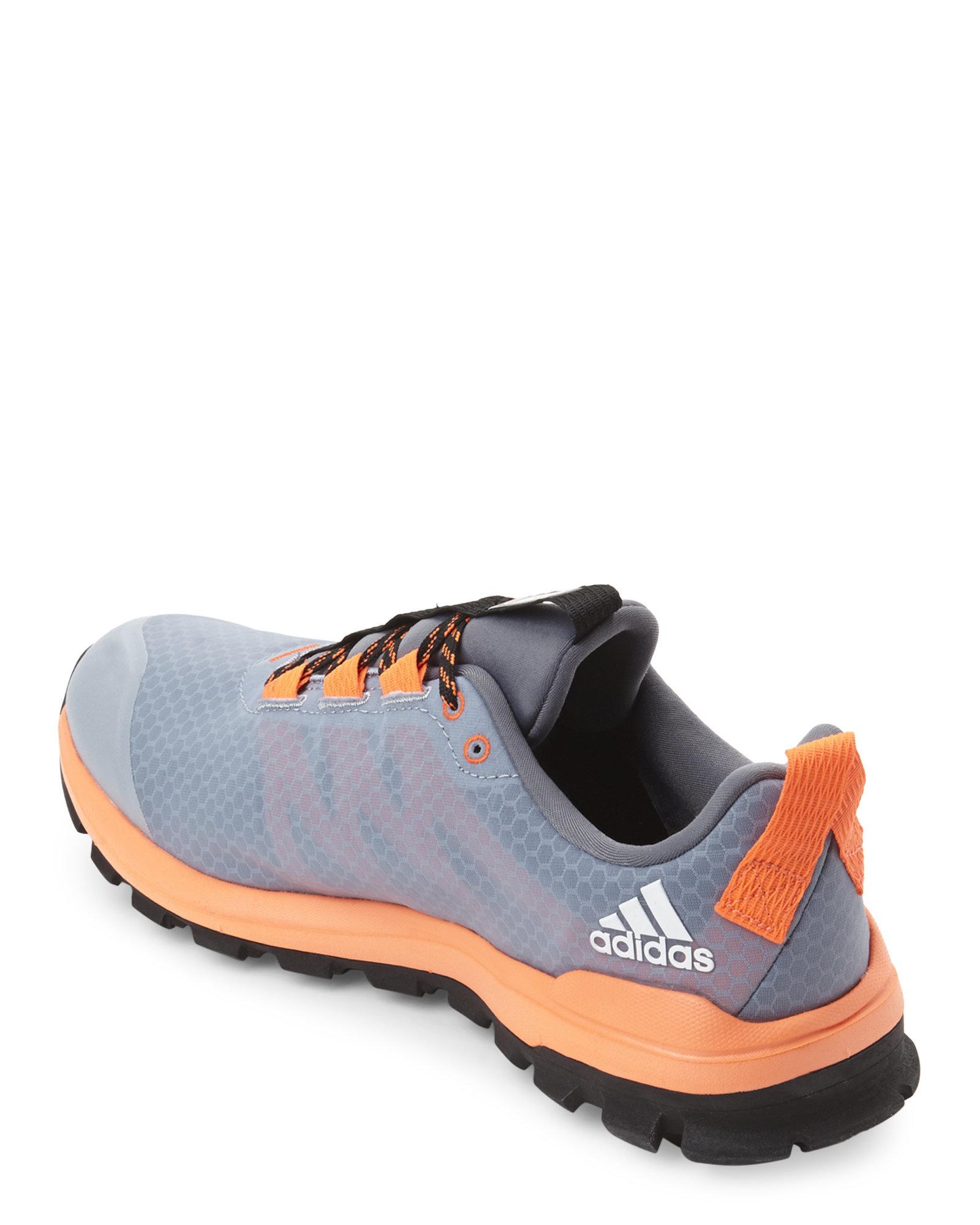 Orange Nike Fabric Running Shoes