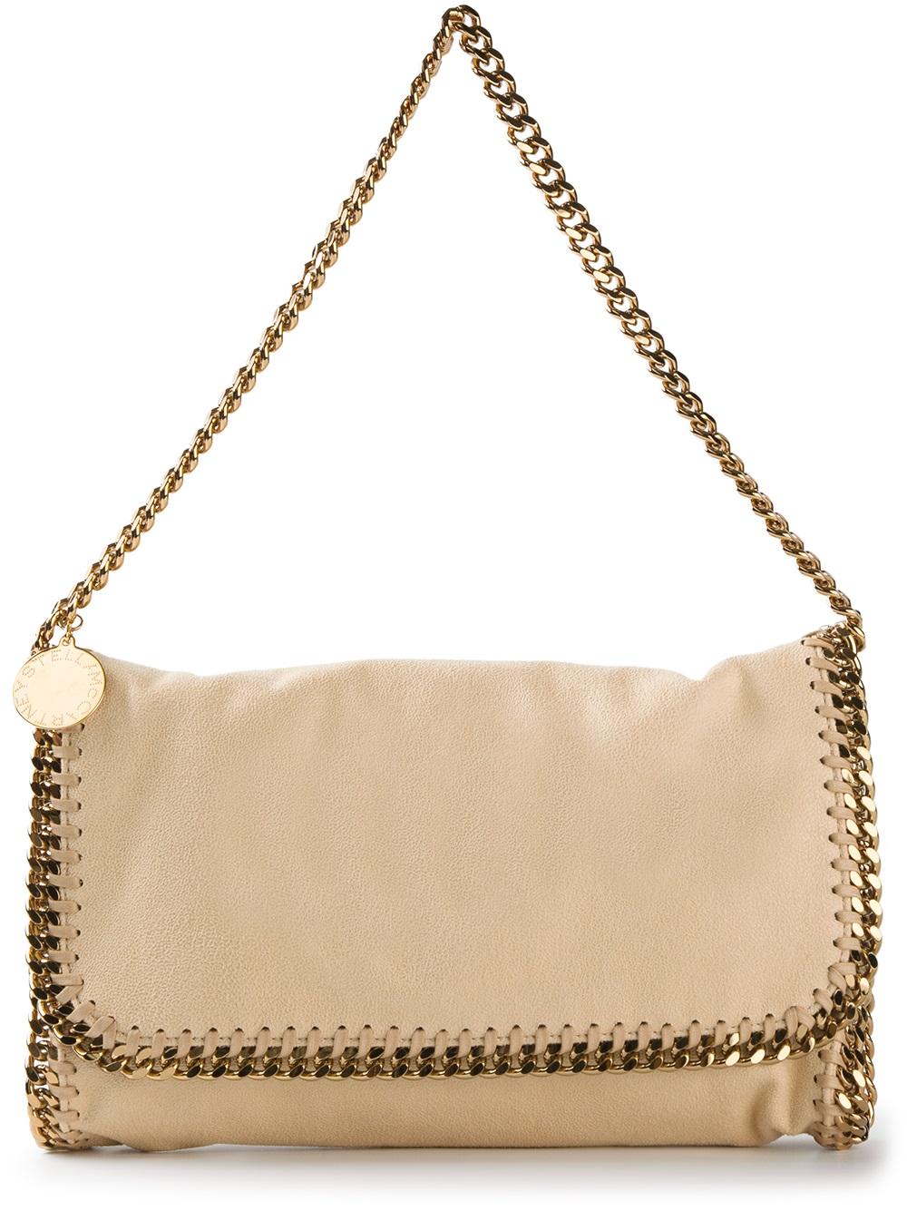 lyst stella mccartney falabella shoulder bag in natural. Black Bedroom Furniture Sets. Home Design Ideas