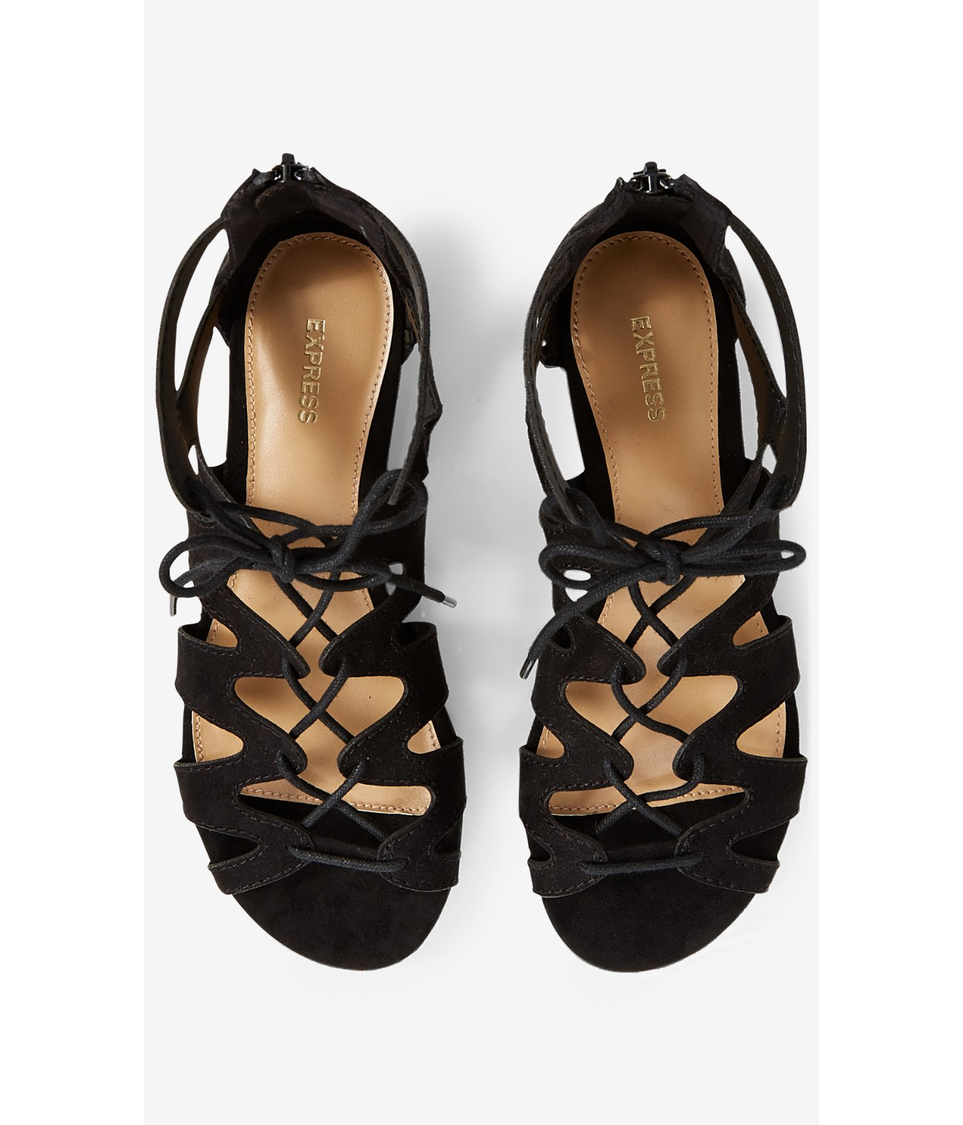 831b893666a Lyst - Express Lace-up Sandal in Black