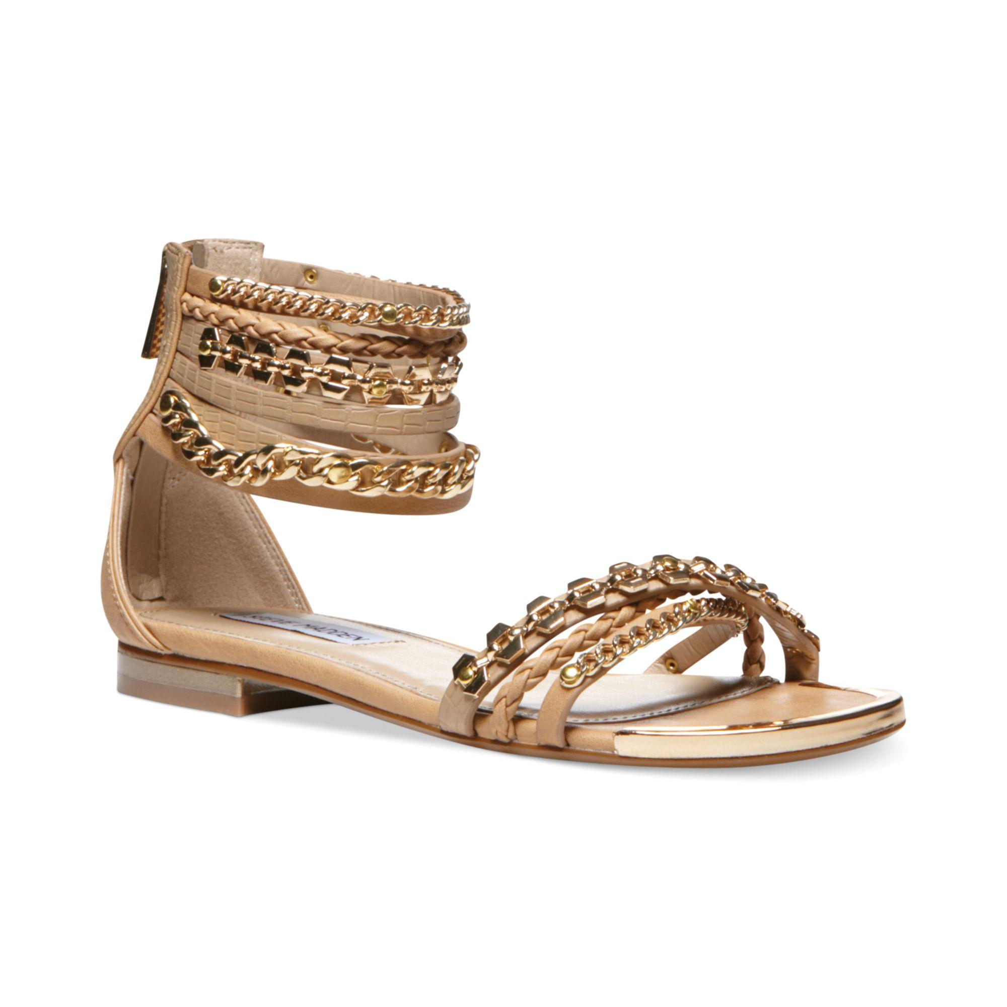 Lyst - Steve Madden Womens Lawful Flat Sandals in Metallic