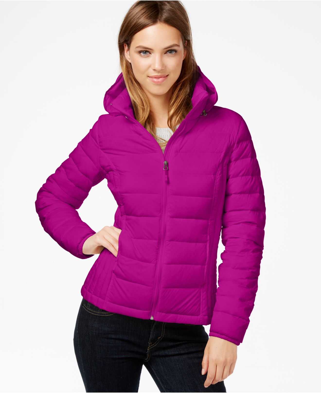 3303487edd3a Lyst - 32 Degrees Hooded Packable Down Puffer Jacket in Purple